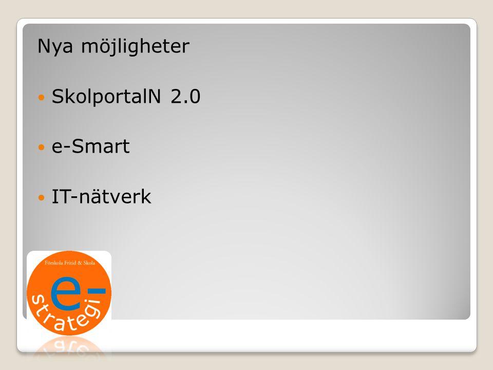 Nya möjligheter SkolportalN 2.0 e-Smart IT-nätverk