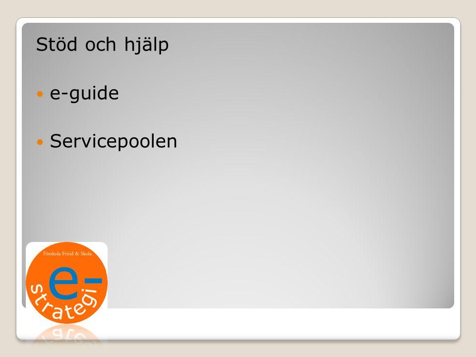 Stöd och hjälp e-guide Servicepoolen