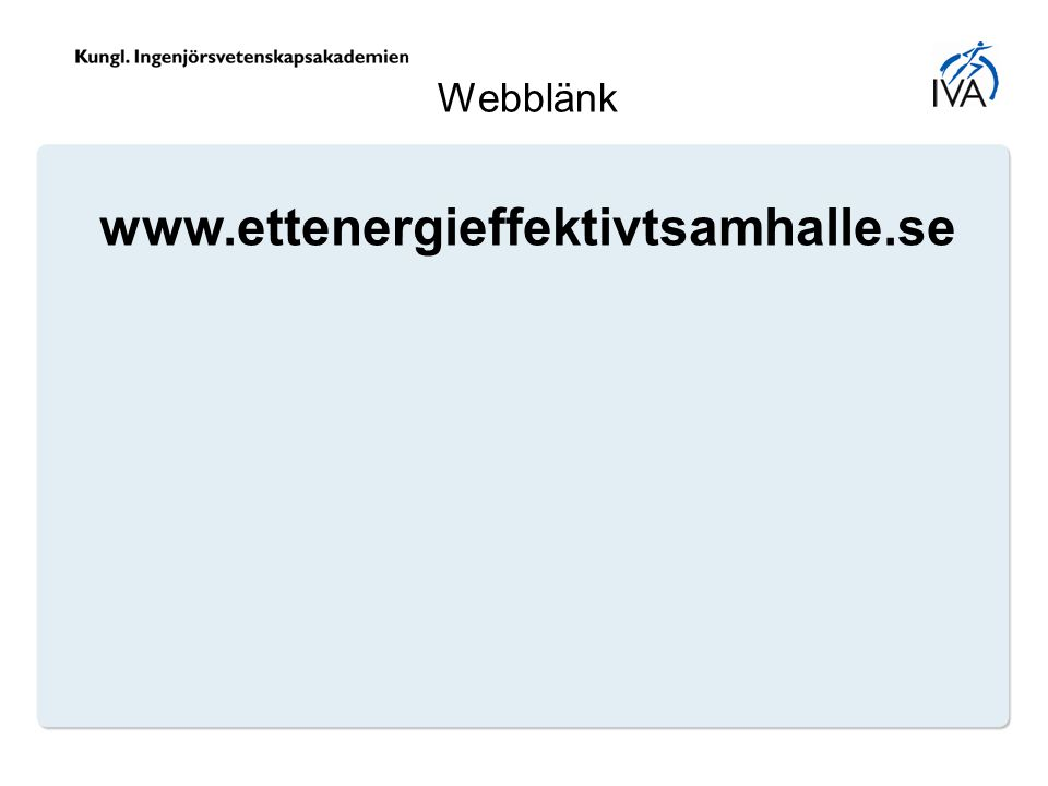 Webblänk www.ettenergieffektivtsamhalle.se