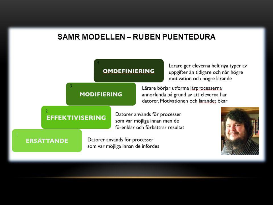 SAMR MODELLEN – RUBEN PUENTEDURA
