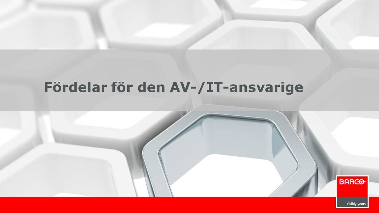 12 Fördelar för den AV-/IT-ansvarige