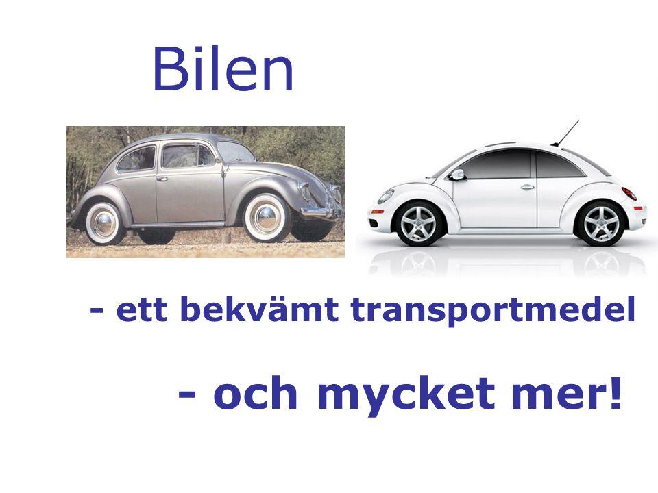 Bilen - ett bekvämt transportmedel - och mycket mer!