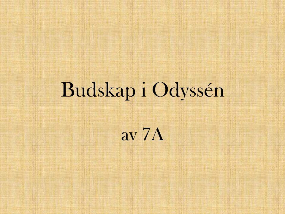 Att aldrig ge upp.Odysséus kämpar och han ger aldrig upp.