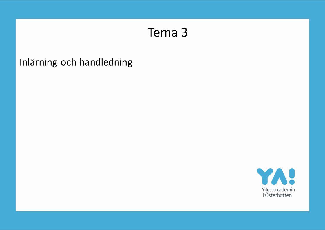Tema 3 Inlärning och handledning