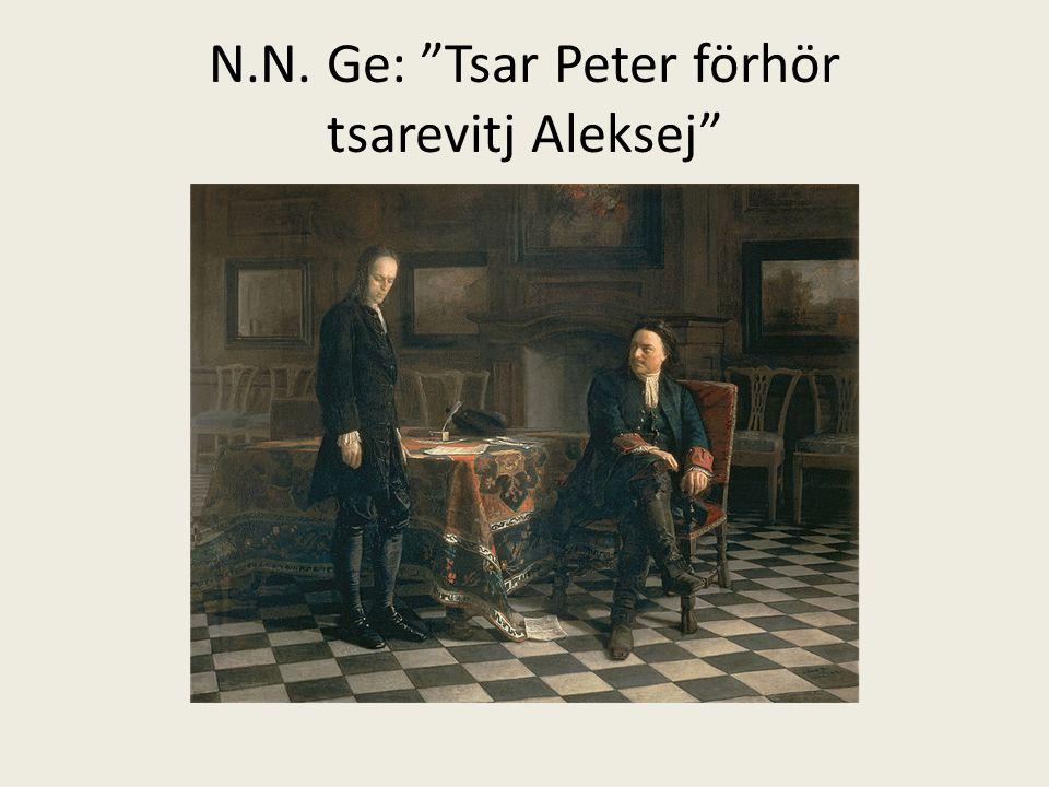 """N.N. Ge: """"Tsar Peter förhör tsarevitj Aleksej"""""""