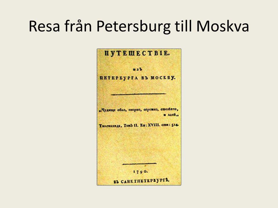 Resa från Petersburg till Moskva