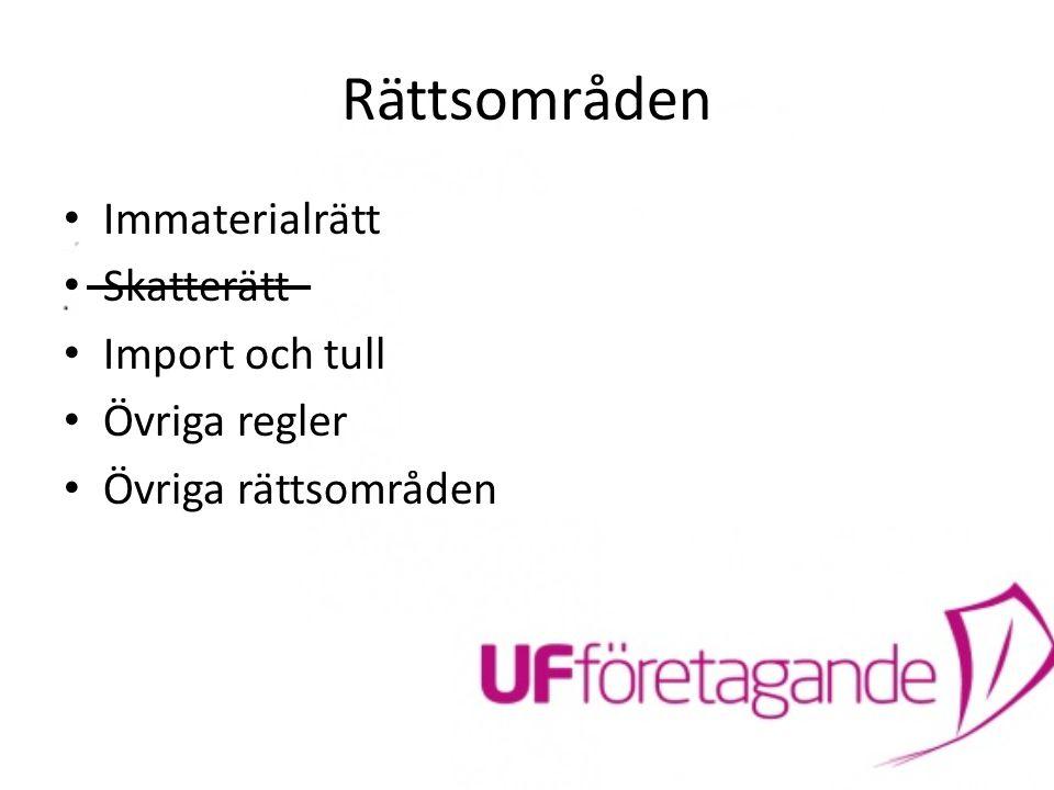 Övriga Regler UF:s regler Affärside, verksamhet och aktiviteter får inte vara skadliga eller negativa för Ung Företagsamhet eller strida mot svensk lagstiftning Ansvaret hos ER.