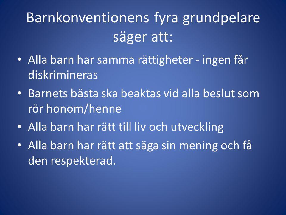 Lite film...Här kommer några elevfilmer om barnkonventionen från ett högastadie på Lidingö.