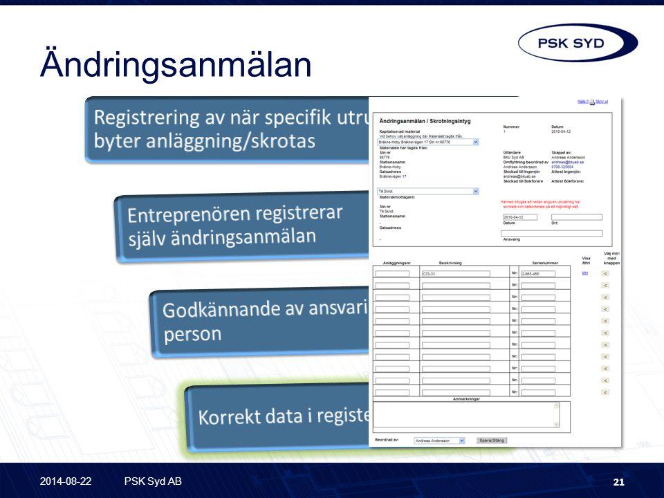 Ändringsanmälan 2014-08-22PSK Syd AB 21