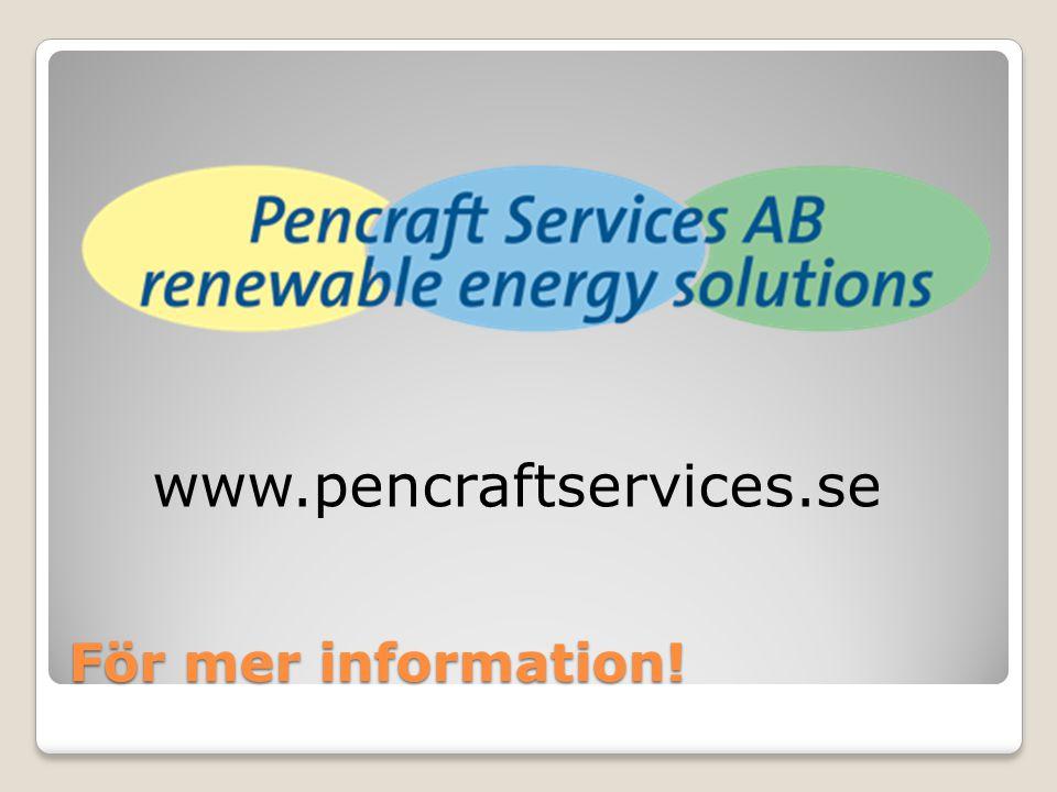 För mer information! www.pencraftservices.se