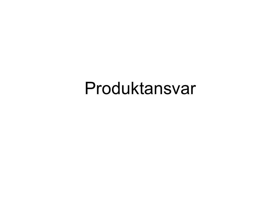 Inledning Vad innebär produktansvar.