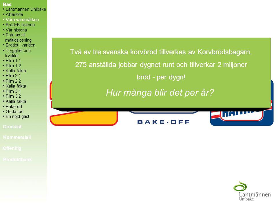 AFFÄRSIDÉ Lantmännen Unibake skall med långsiktighet och god lönsamhet erbjuda marknaden djupfryst bröd av hög kvalitet. Vi möter våra kunders behov a