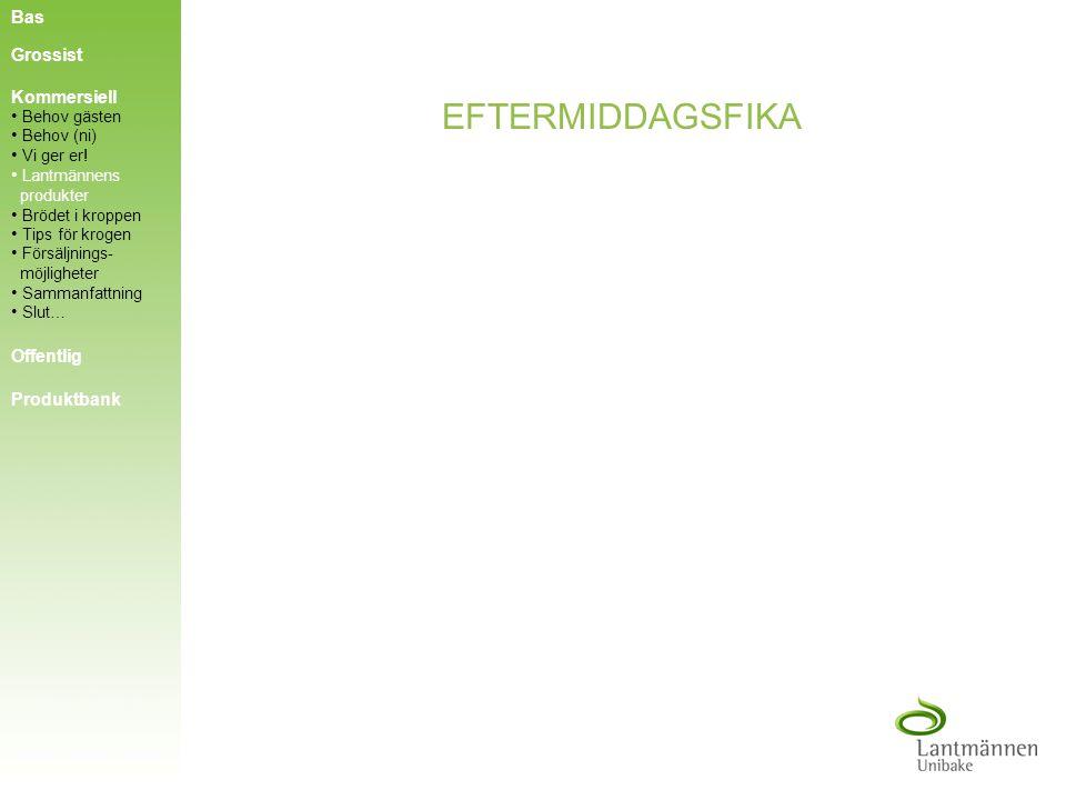 FAST FOOD Bas Grossist Kommersiell Offentlig Produktbank Behov gästen Behov (ni) Behov (ni) Vi ger er! Vi ger er! Tips för krogen Tips för krogen Lant