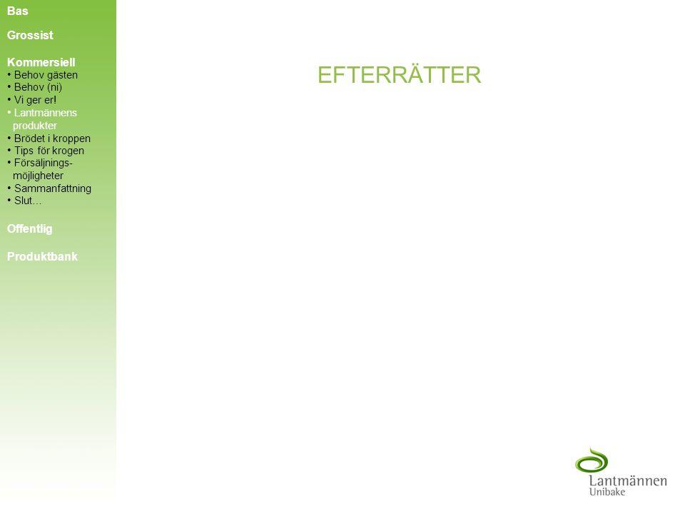 EFTERMIDDAGSFIKA Bas Grossist Kommersiell Offentlig Produktbank Behov gästen Behov (ni) Behov (ni) Vi ger er! Vi ger er! Tips för krogen Tips för krog