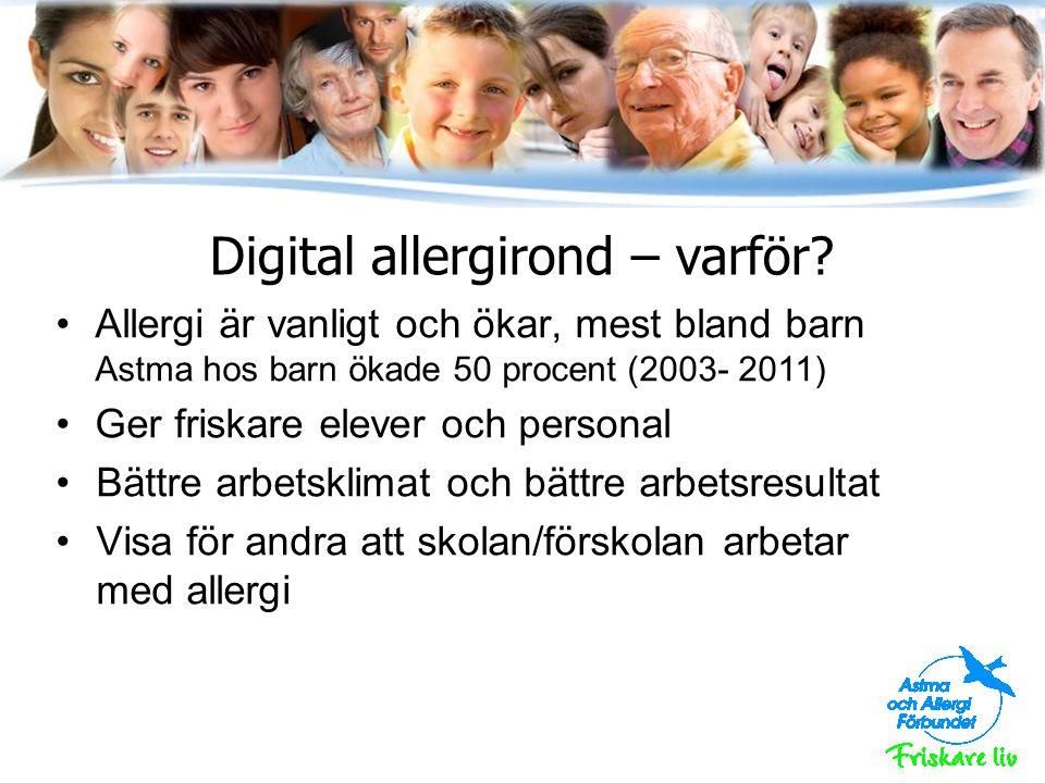 Digital allergirond – varför.
