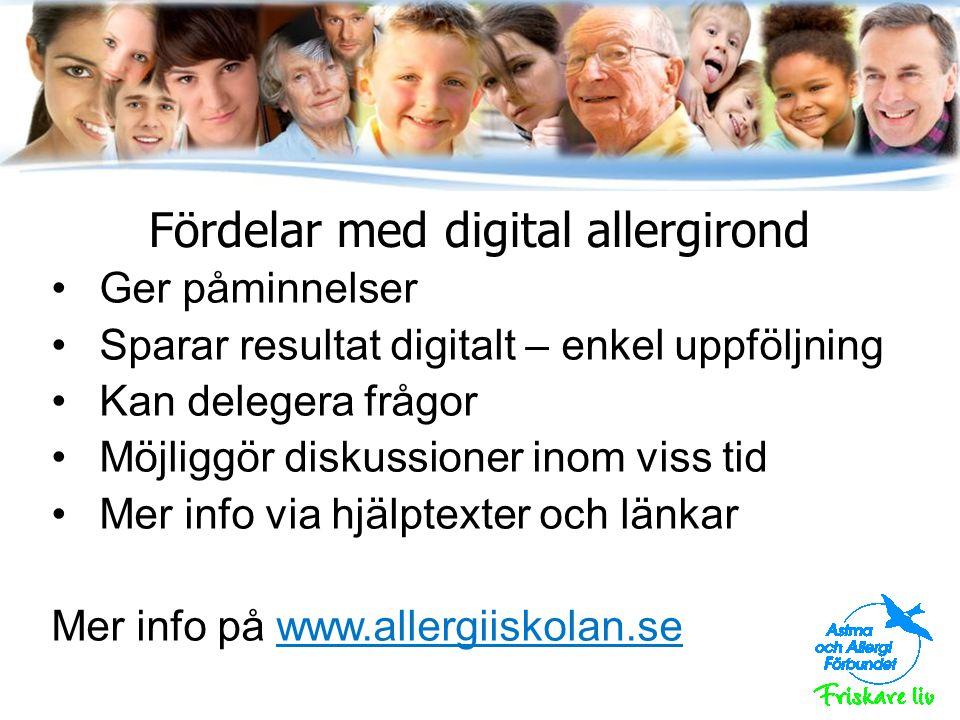 Hur kan vi arbeta lokalt med allergironden.
