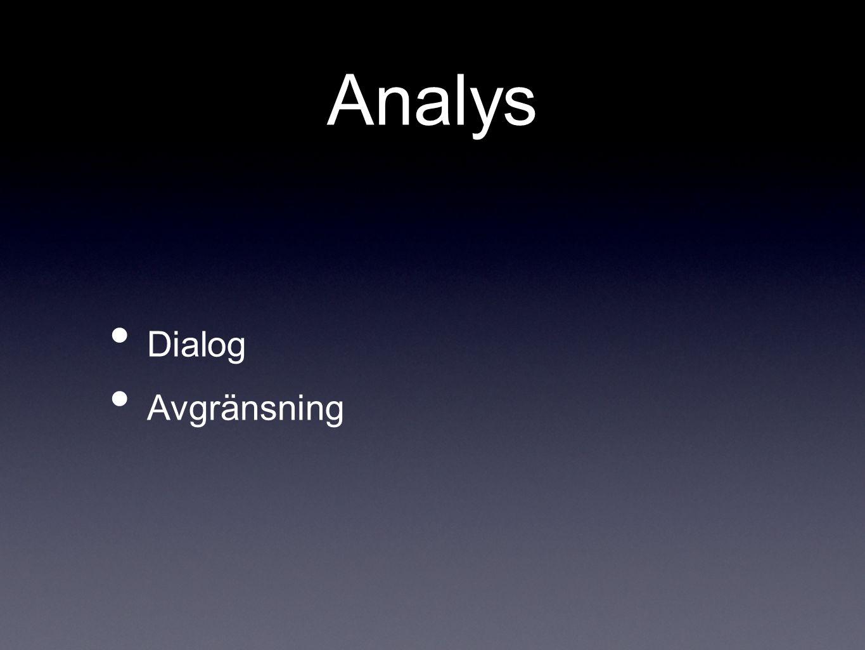 Analys Dialog Avgränsning