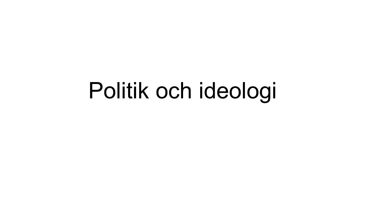 Politiska partier –Svenska riksdagspartier Regeringsmakt innehölls av Alliansen Som är en koalition av fyra borgerliga partier: Moderaterna Folkpartiet Kristdemokraterna Centern