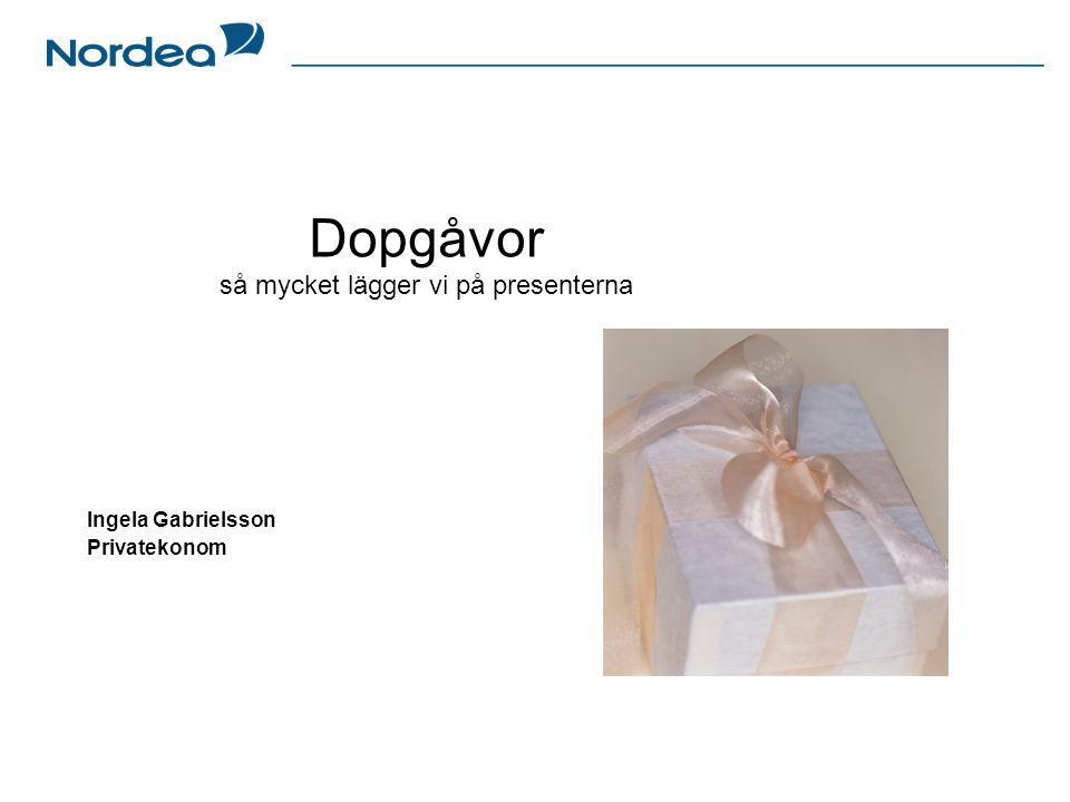 Dopgåvor så mycket lägger vi på presenterna Ingela Gabrielsson Privatekonom