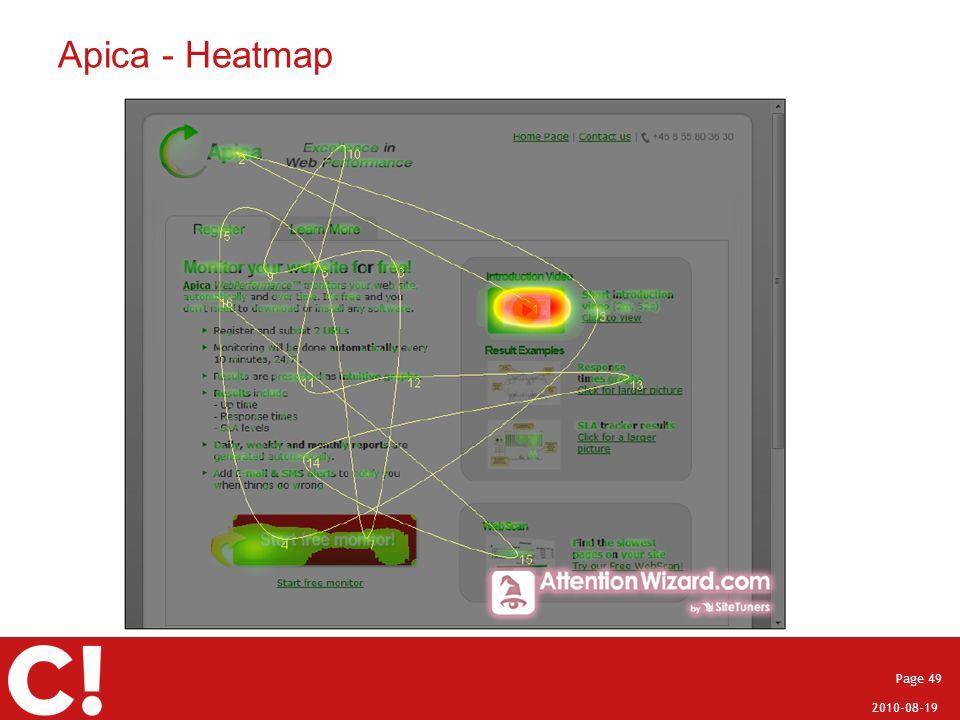 2010-08-19 Page 49 Apica - Heatmap