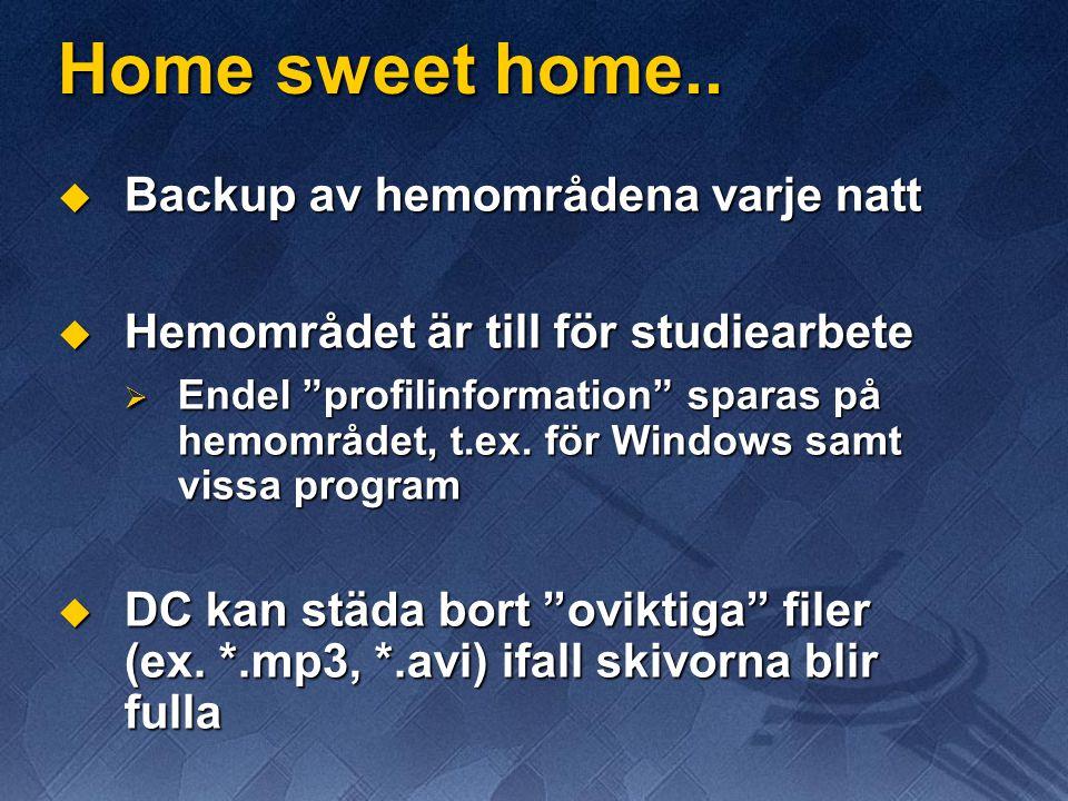 Home sweet home..