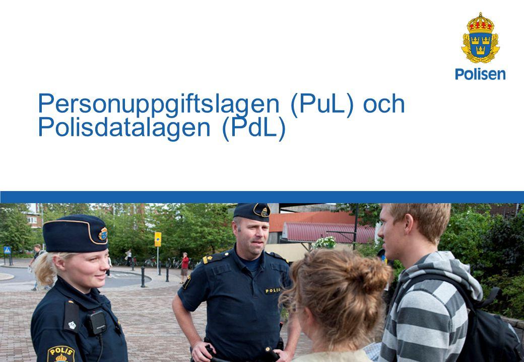 72 Polismyndigheten i Stockholms län Personuppgifter som har gjorts gemensamt tillgängliga 3 kap.
