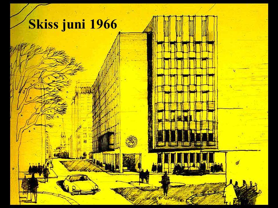 Femte höghuset blir till Skiss juni 1966