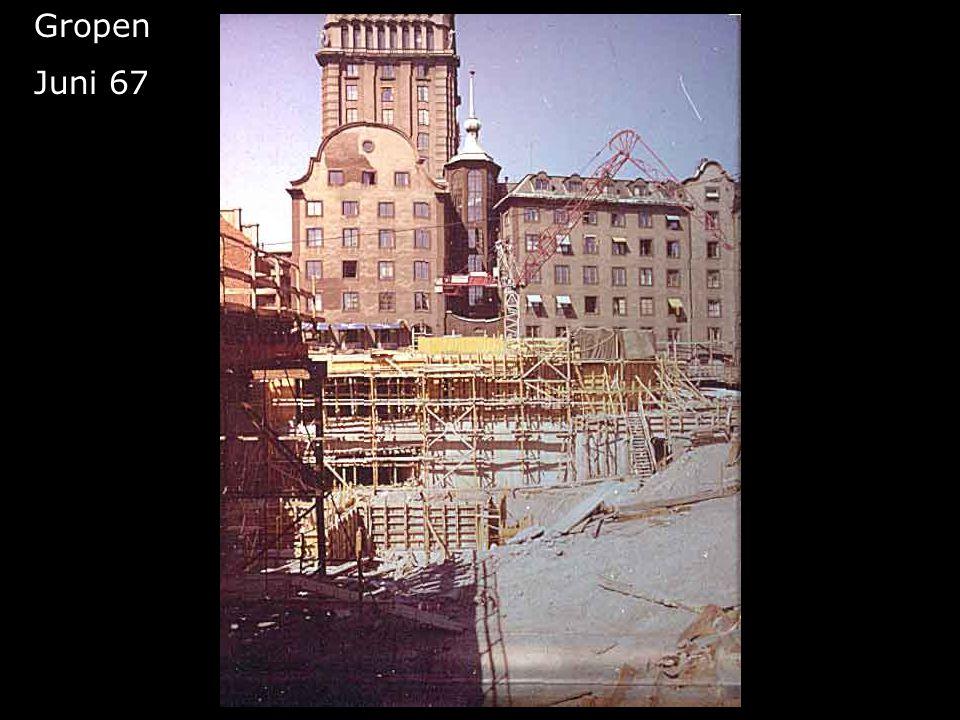 Femte höghuset blir till Gropen Juni 67