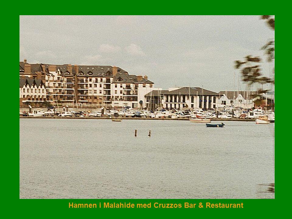 Hamnen i Malahide med Cruzzos Bar & Restaurant