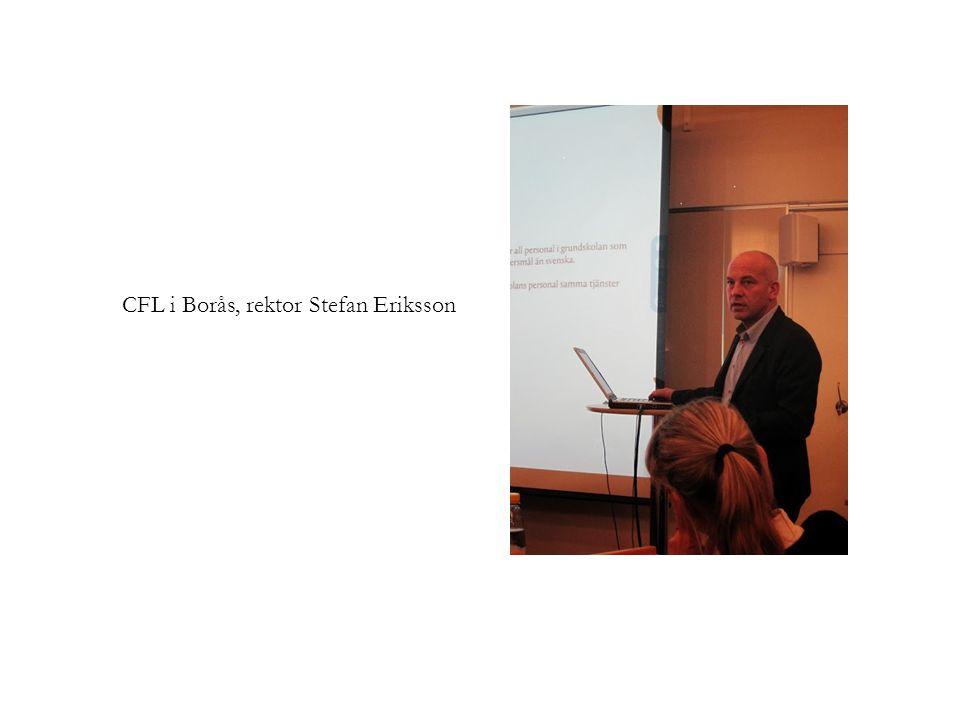 CFL i Borås, rektor Stefan Eriksson