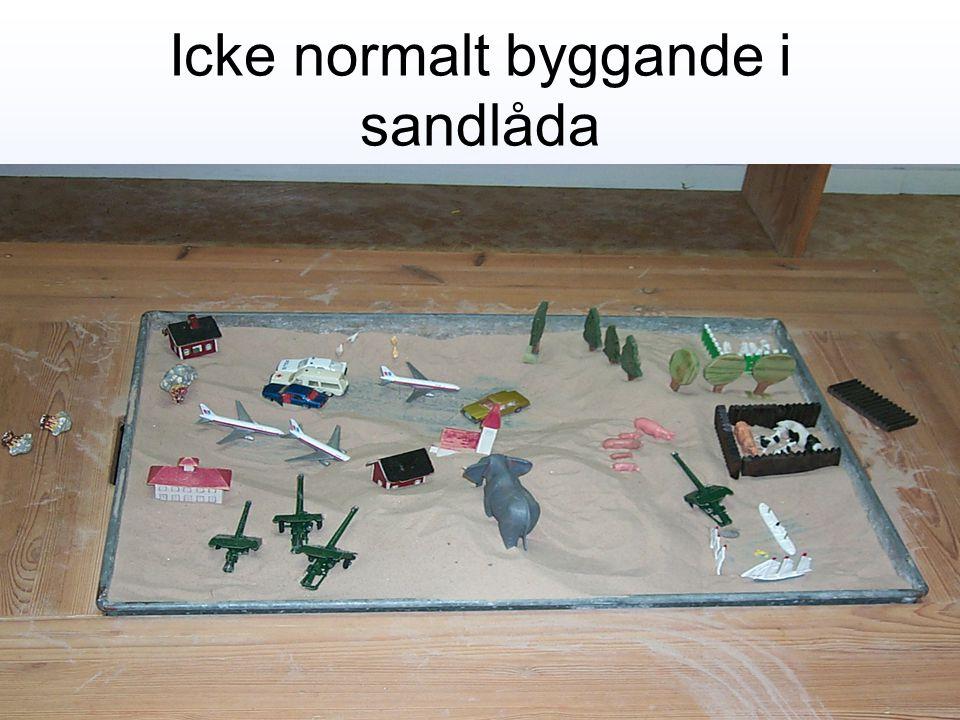 Icke normalt byggande i sandlåda