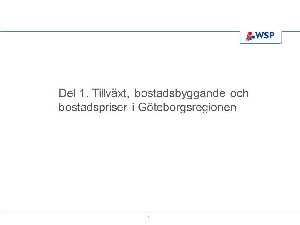 Del 1. Tillväxt, bostadsbyggande och bostadspriser i Göteborgsregionen 3