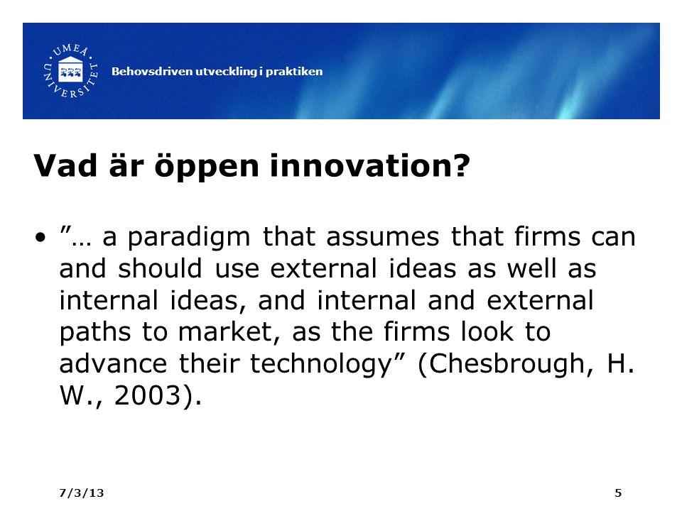 Vad är öppen innovation.
