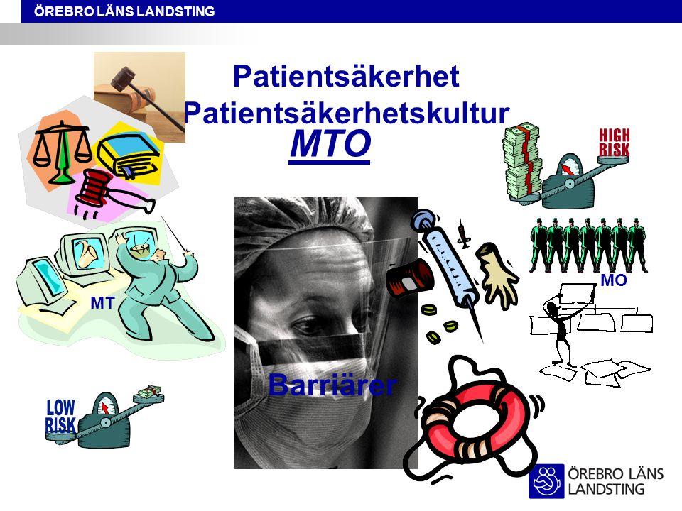Patientsäkerhet Patientsäkerhetskultur MTO MT MO Barriärer