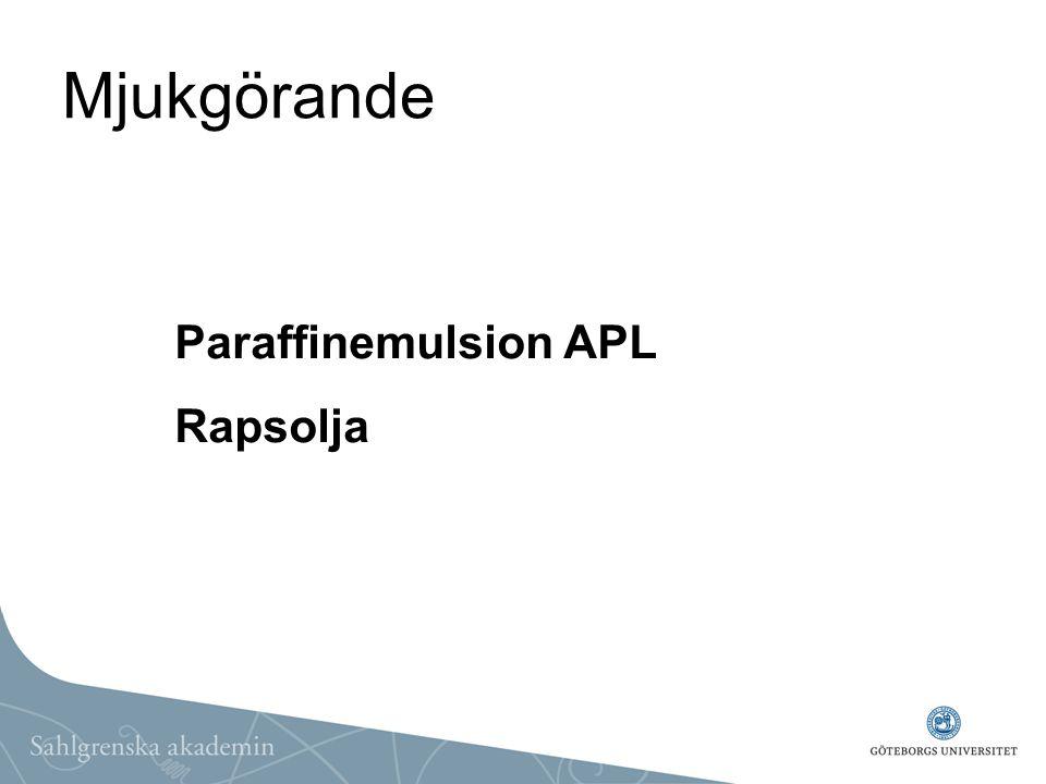 Mjukgörande Paraffinemulsion APL Rapsolja