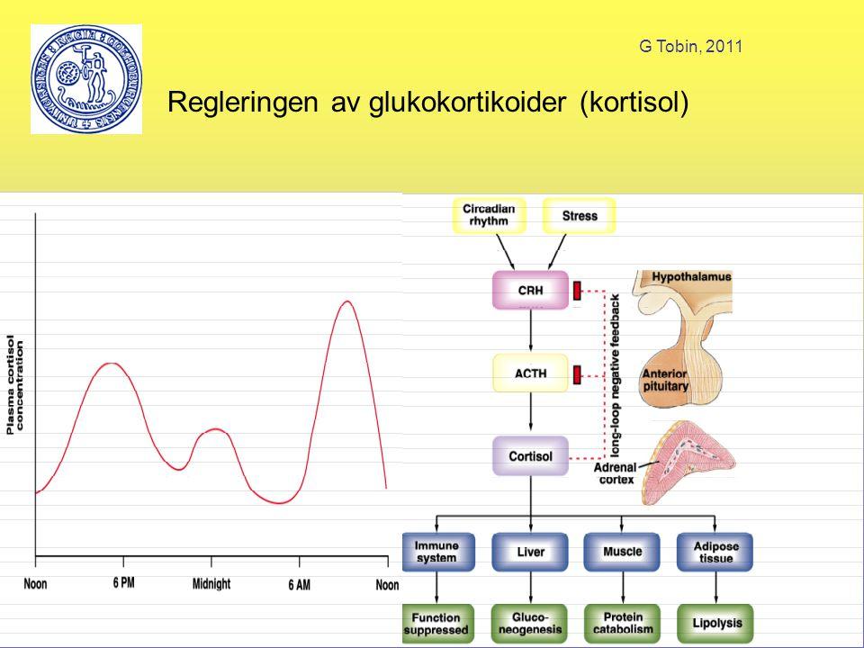 G Tobin, 2011 Regleringen av glukokortikoider (kortisol)