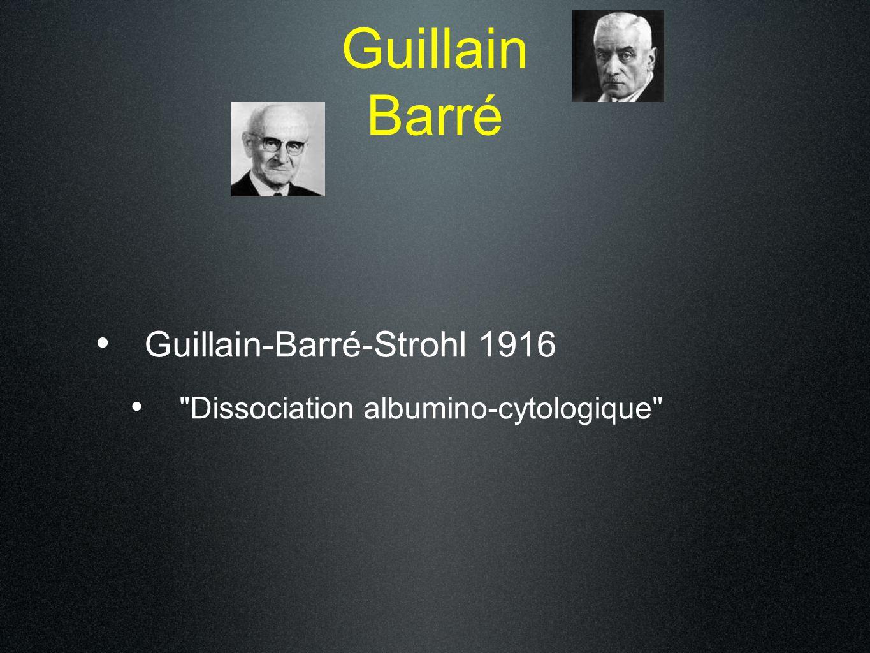 Guillain Barré Guillain-Barré-Strohl 1916