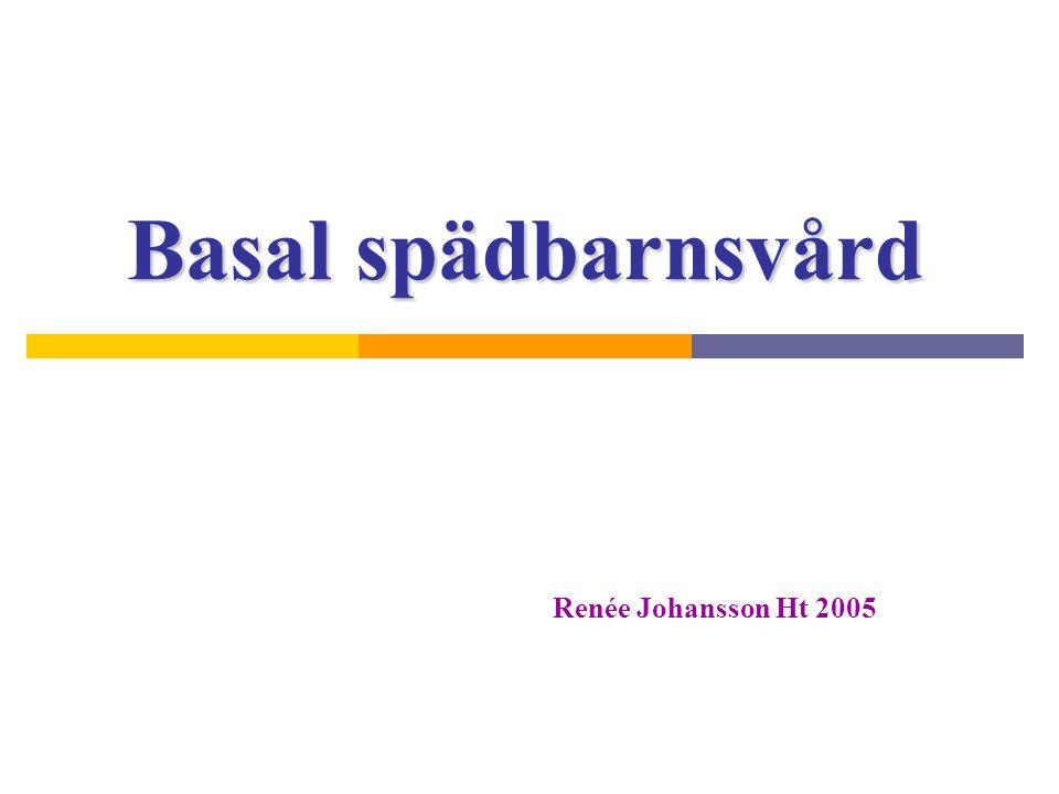 Basal spädbarnsvård Renée Johansson Ht 2005