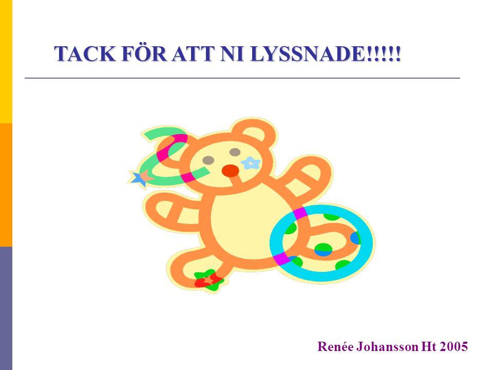 TACK FÖR ATT NI LYSSNADE!!!!! Renée Johansson Ht 2005