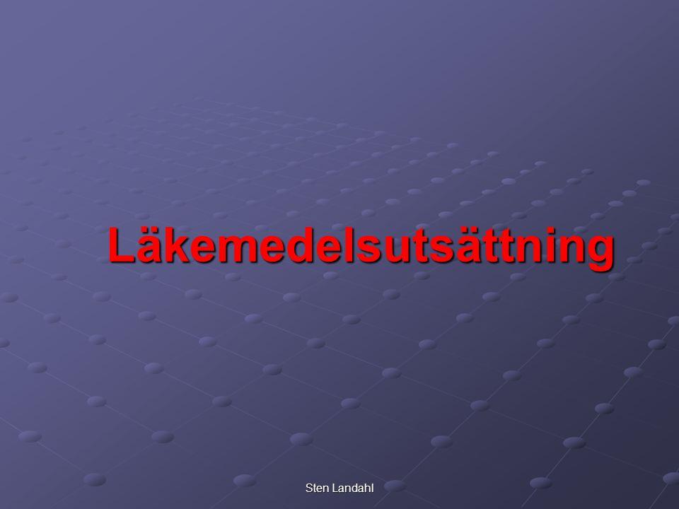 Sten Landahl Läkemedelsutsättning