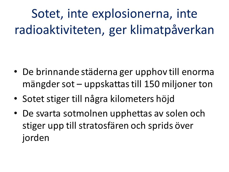 Invändningar mot framställningen Finns risk för krig Ind/Pak.