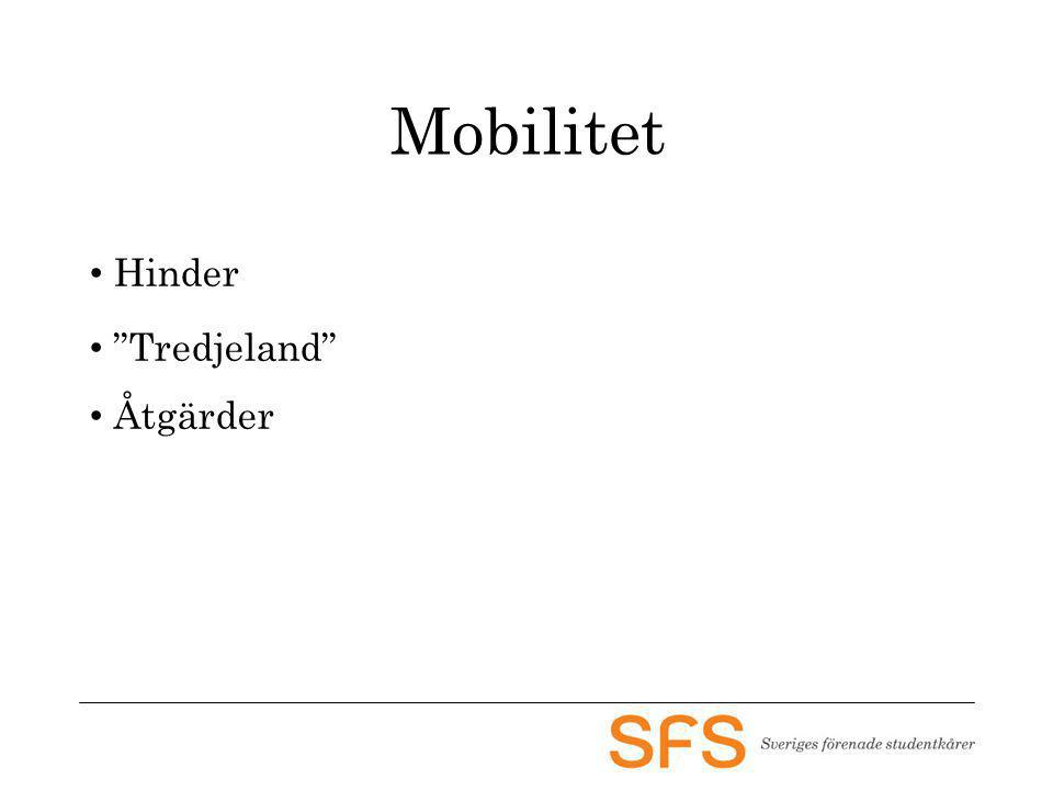 "Mobilitet Hinder ""Tredjeland"" Åtgärder"