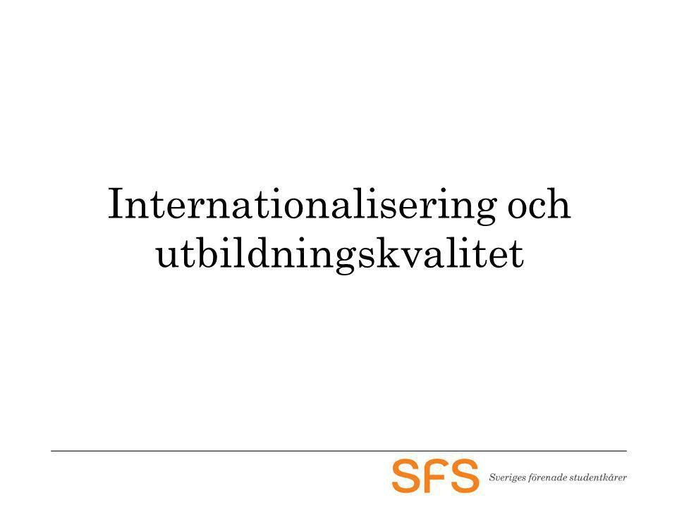 Internationalisering och utbildningskvalitet