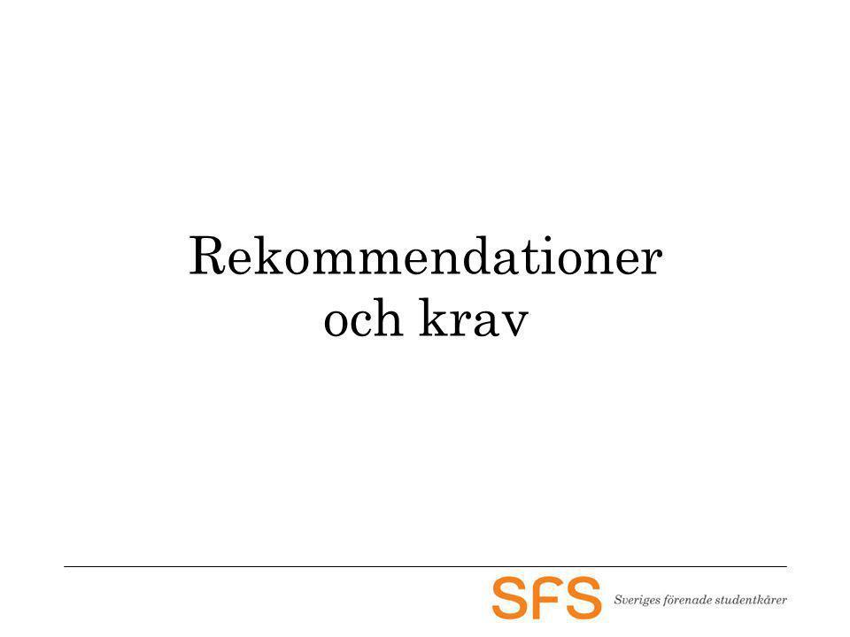 Rekommendationer och krav