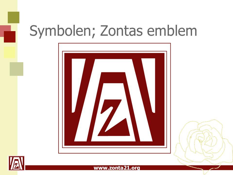 www.zonta21.org Symbolen; Zontas emblem
