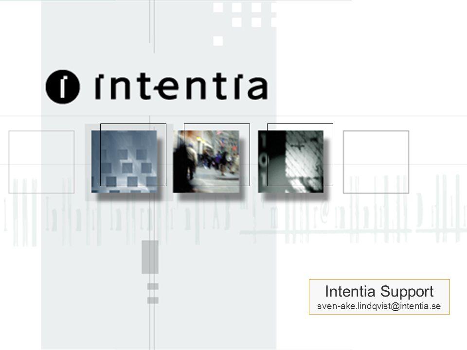 www.intentia.com Intentia Std ver 1.0 May 2000 12 Intentia Support Organisation Europe Vi är idag drygt 100 supportkonsulter på heltid.