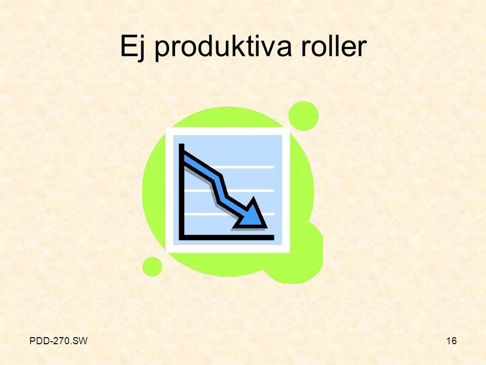 PDD-270.SW16 Ej produktiva roller