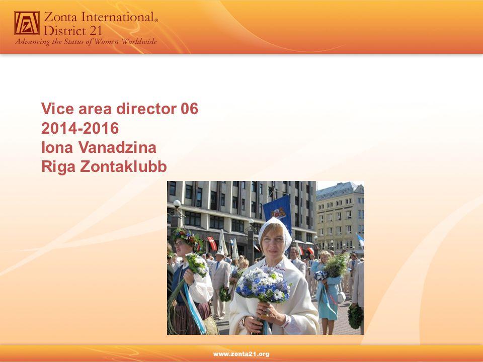 Vice area director 06 2014-2016 Iona Vanadzina Riga Zontaklubb