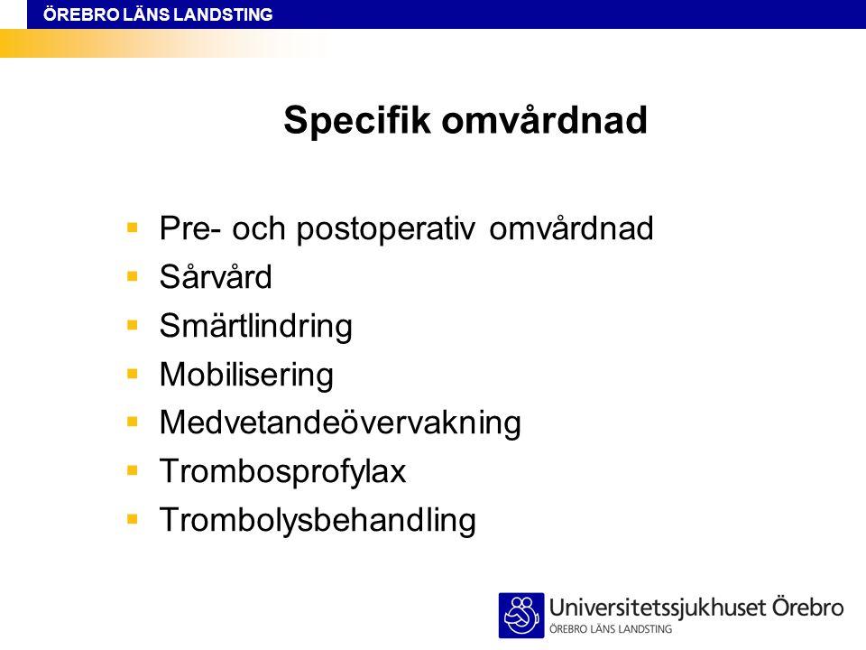 ÖREBRO LÄNS LANDSTING Åsa Törnström AKA avdelningarna 82, 94 och 96 Minicall 0746-222 479