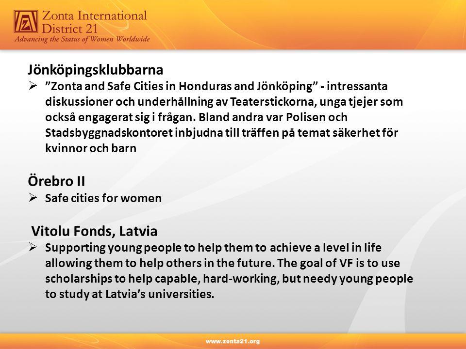 """Jönköpingsklubbarna  """"Zonta and Safe Cities in Honduras and Jönköping"""" - intressanta diskussioner och underhållning av Teaterstickorna, unga tjejer s"""